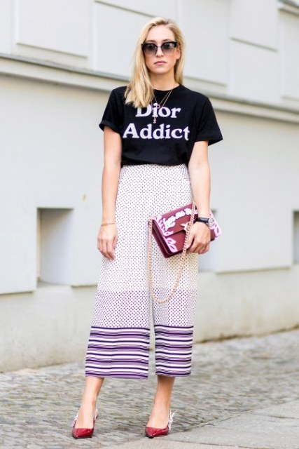 7 ways to style culottes X