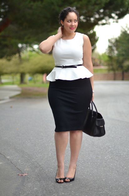 Different ways to wear a peplum top