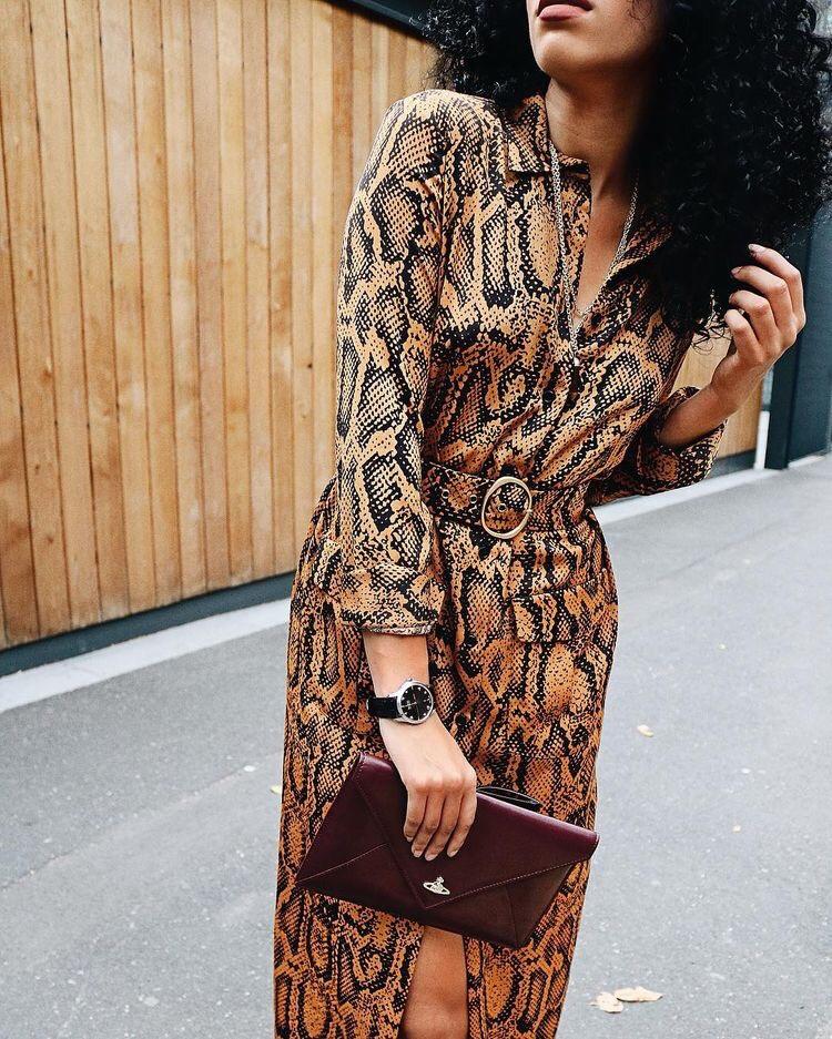 The Snake Skin Print Nigerian Style Blogger Benita Ijeh